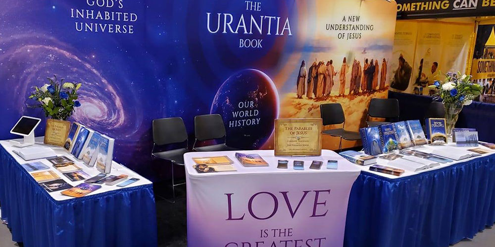 Banner image - Slide 2 - The Urantia Booth at The Parliament of World Religions in Toronto.